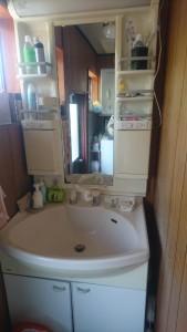 洗面施工前